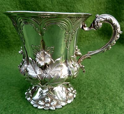 "WONDERFULLY ORNATE WILLIAM IV STERLING SILVER 4"" TANKARD - LONDON 1832  - 6.82oz"