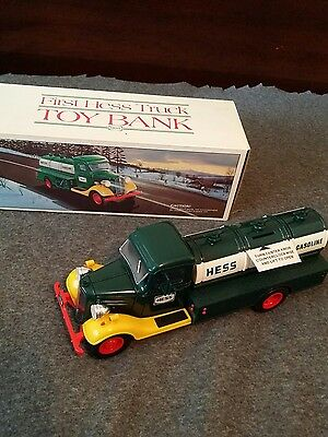 1980 vintage First Hess Truck bank.