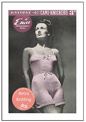 1940s Cami-knickers - Lingerie Knitting Pattern  Copy