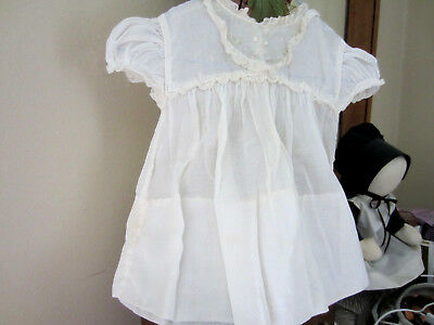 Sweet Vintage Baby Dress White With Lace & Embroidery-Nice for Baby or Doll