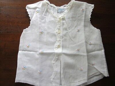 Precious Vintage Baby Diaper Shirt Cotton With Embroidery