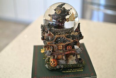 Boyds Bears WITCHY BOO'S HAUNTED MANSION Waterball - 1E - Has SOUND & LIGHT- NIB