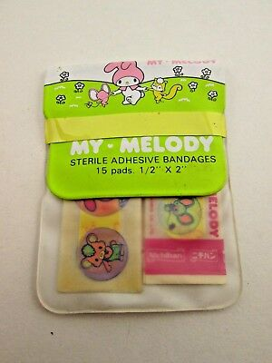 Vintage 1976 Sanrio My Melody Sterile Adhesive Bandages With Case