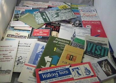 Vintage Lot of 27 USA Unique Travel Brochures Atlases and Maps