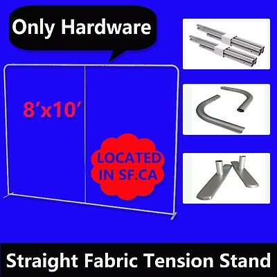 8' x 10ft,Straight Booth Exhibit Show Tension Fabric Tube Display Wall Stand