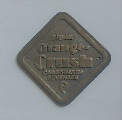 Very Rare Vintage Orange Crush Brass Sign in Excellant Condition