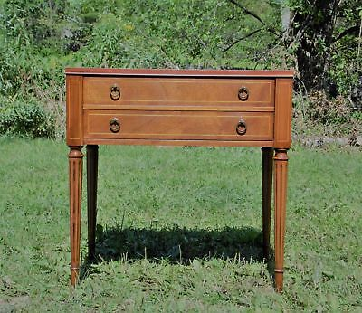 Vintage Heritage Henredon HH 1 Drawer Inlaid Side End Occasional Entry Table