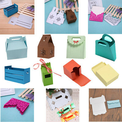 Lovely Gift Box Cutting Dies Stencil DIY Scrapbooking Embossing Paper Card Craft
