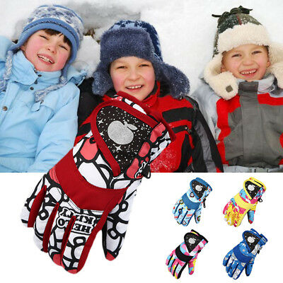 Winter Water-proof Ski Gloves Child Snow Sports Gloves Xmas Children Gifts New