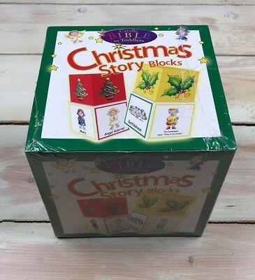 NEW Christmas Story Blocks Stackable Candle Bible for Toddlers