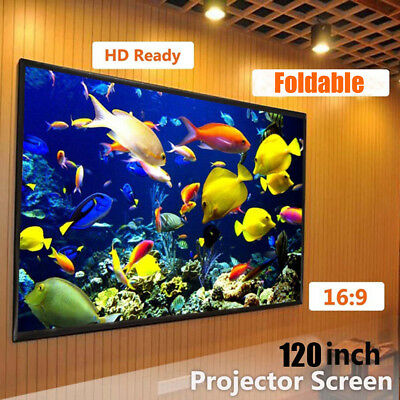 Foldable Outdoor 120'' Inch 16:9 Projector Projection Screen 3D Cinema Theater