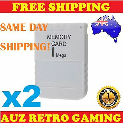 2x NEW 1MB Memory Card Save Blocks for SONY Playstation 1 PS1 PS PSX One