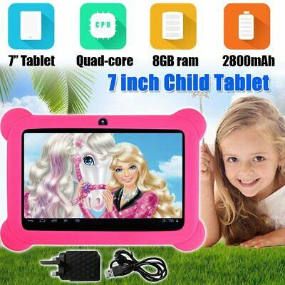 "7"" INCH ANDROID TABLET 4.4 QUAD CORE 8GB Camera & WIFI for Kids Children UK"