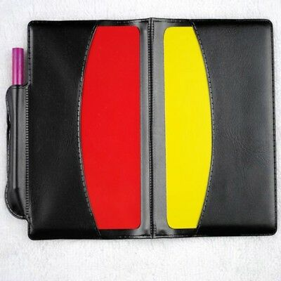 Soccor Referee Penalty Pencil Wallet Pad Yellow Red Card and Sports Notebook New