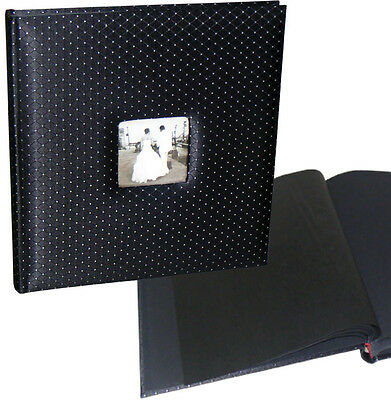 Black Diamond wedding drymount photo album 29x31cm, 50 black pages