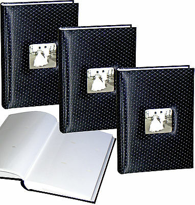 3 x Black Diamond wedding 6x4 slip-in 300 photo albums * THREE PACK
