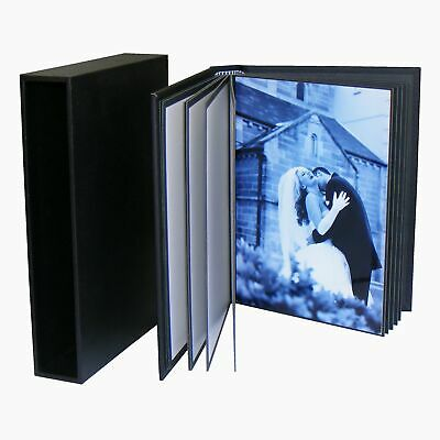 7x5 Photo Book 20 prints 13x18cm Black DIY Portfolio Album