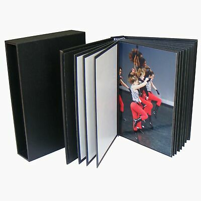 6x4 Photo Book 20 prints 10x15cm Black DIY Portfolio Album