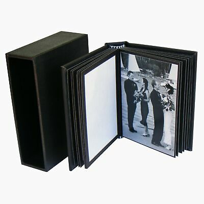 "Small Photo Book 20 prints 3.5""x2.5"" Black DIY Portfolio Album"