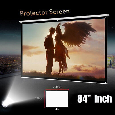 Foldable 84'' Inch 4:3 Projector Projection Screen Indoor/Outdoor Cinema Theater