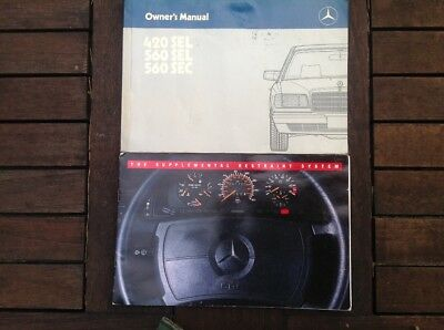 W126 Betriebsanleitung  Owners Manual Mercedes Benz 420SEL 560SEL 560SEC 1986