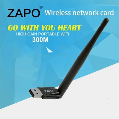 Mini 300M 802.11n/g/b USB Wireless Adapter WiFi Network Card With Antenna QY