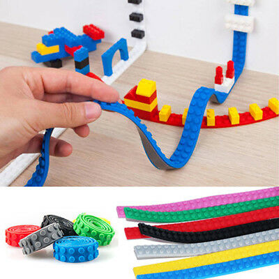 Tape Strip Block Bendable Flexible Corners Educational Toy For Le go Blocks New