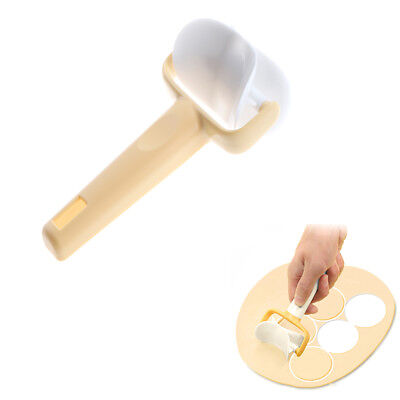 Fondant Cake Tool Icing Spatula Cookie Round Rolling Biscuit Dough Cutter SU