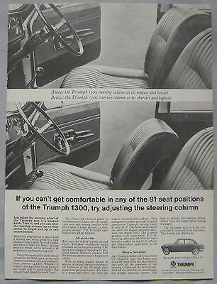 1967 Triumph 1300 Original advert