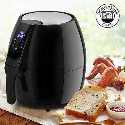 NEW1500W Electric Air Fryer 4.8 Quart Touch LCD Screen Timer Temperature Control