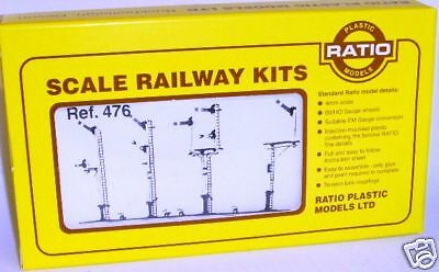 Ratio 476. LMS Round Post Signals Kit - New. (00)