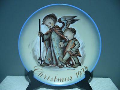 Vintage Berta Hummel Xmas Plate - 1974 - The Guardian Angel - Very Good Cond