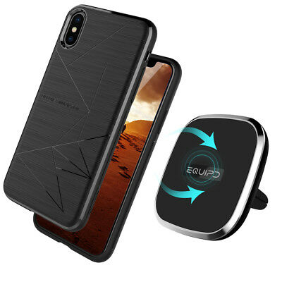 Qi Wireless Charging Pad 360° Rotation Car Mount Air Vent Holder / Magnetic Case