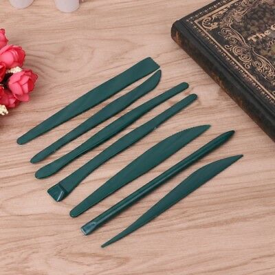 7 Pcs / Set Plastic Sculpturecutter Modeling Wax Clay Pottery Carving Tool Craft