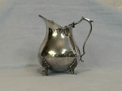 Antique FOOTED CREAMER - SIMPSON HALL MILLER and CO. Silver Plate Style 3727