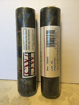 "2 Rolls SUNWORTHY #79262 PREPASTED WALLPAPER BORDER New 6.7""x15' Green Burgundy"