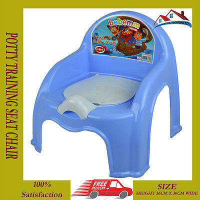 New Blue Child Toilet Seat Potty Training Seat Chair Removable Lid Kids Baby