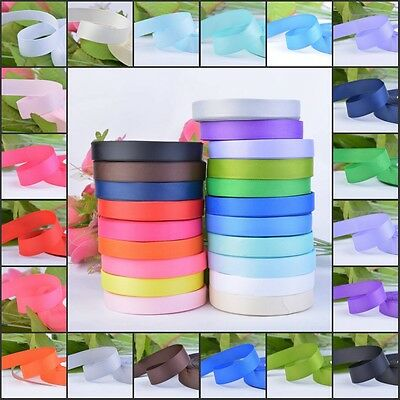 25 Yards Grosgrain Ribbon Roll 10 15 25 38mm Wide Wedding Party Gift Bow Wrap