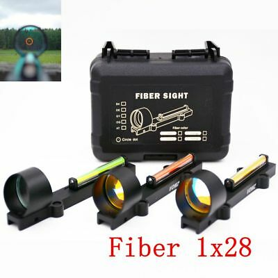 Tactical Circle Red Dot Fiber Reflex Sight 1X28 Collimeter Fit 11mm mount