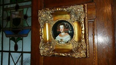 Ornate antique style gilt picture frame 5 X 5