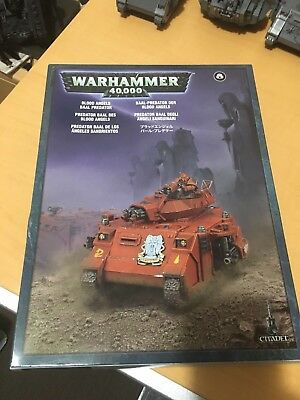 Warhammer 40k Space Marine  Blood Angels BAAL Predator (turret missing)