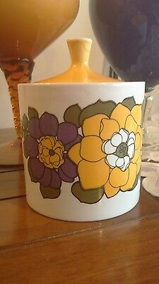 Retro Myott England Sugar Bowl 'michelle' Ironstone