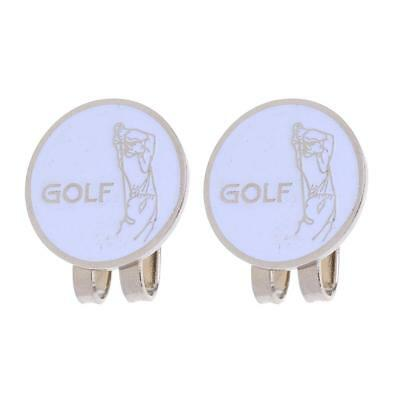 2 Pieces Classic Golfer Design Magnetic Hat Cap Visor Clip Golf Ball Marker