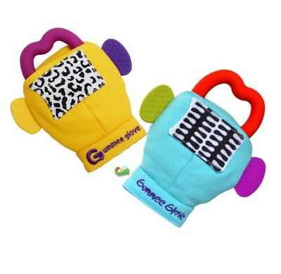 Gummee Glove multi-award-winning teething mitten. Fit babies from 3-6 months