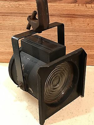 Antique Vintage Theater Stage Spot Light Industrial Original Hanging w/clamp