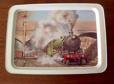 Willow Australia Tin Tray Steam Engine Train 3642 NSW Painting By Brian Baigent