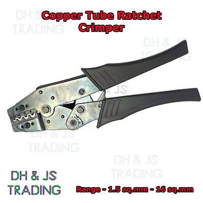Heavy Duty Ratchet Crimpers For Copper Tube Terminals Butts 1.5mm² - 16mm²