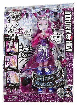 New Official Welcome To Monster High Ari Hauntington Accessories Doll With Sound