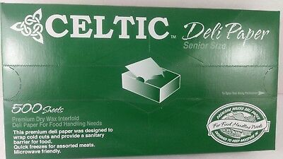 Deli Sandwich Paper 10 x 10.75 Dry Wax Interfolded Pop-Up Sheets 500 Pack Celtic