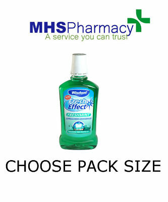 Wisdom Fresh Effect Freshmint Antibacterial Mouthwash 500ml choose packs
